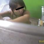 公共施設隠撮シャワールーム放尿1