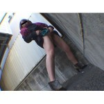 素人投稿 自画撮りシリーズ091 立ちション排泄 FILE3