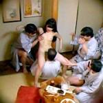 忘年会で部下の妻を強制裸踊り後に輪姦したビデオ 総集編
