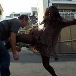 路上金蹴りナンパ