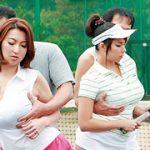 テニススクールに通いつめる奥様たちは巨乳を揺らして