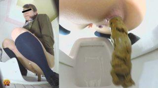 和式トイレ盗撮 女子校生のうんこ さまざまなアングルから眺めた若い大便の全て