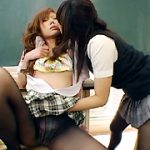 女子校生黒タイツレズ3