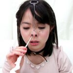 鼻フェチ!かえでちゃんの鼻フックくしゃみ鼻水観察